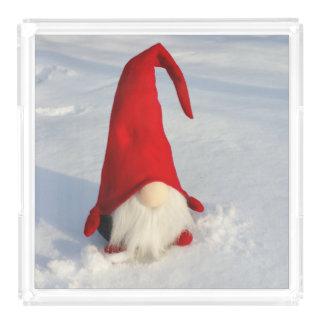 Bandeja Acrílica Gnomo escandinavo del navidad