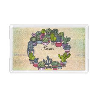 Bandeja Acrílica Guirnalda personalizada del cactus