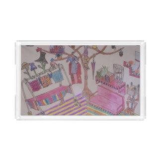 Bandeja Acrílica Interior con el árbol