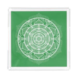 Bandeja Acrílica Mandala de la alga marina