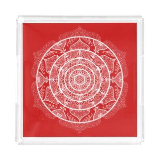 Bandeja Acrílica Mandala de la cereza