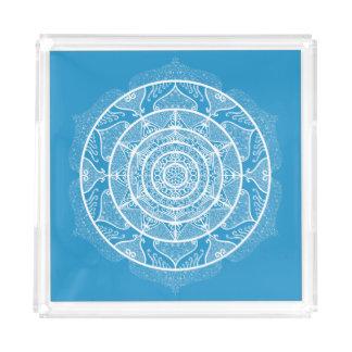 Bandeja Acrílica Mandala del Bluebird