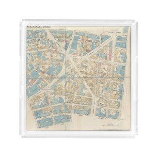Bandeja Acrílica Mapa de Manhattan