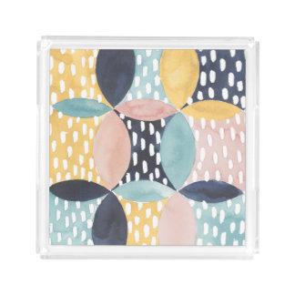 Bandeja Acrílica Modelo abstracto del círculo