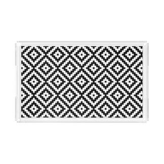 Bandeja Acrílica Modelo azteca del bloque del símbolo negro y