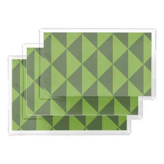 Bandeja Acrílica Modelo verde de la flecha del verdor de la col