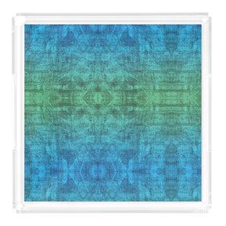 Bandeja Acrílica Modelo verde y azul de la textura de la pendiente