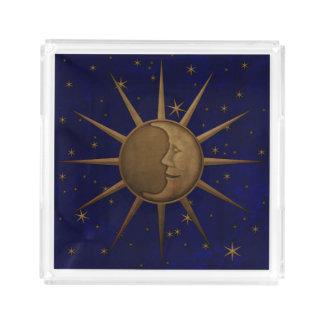 Bandeja Acrílica Noche estrellada de la luna celestial de Sun