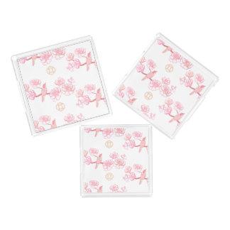 Bandeja Acrílica Sakura, flor de la primavera, flor de cerezo