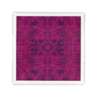 Bandeja Acrílica Textura púrpura