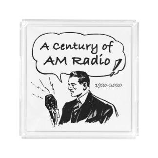 Bandeja Acrílica Un siglo de radio de la