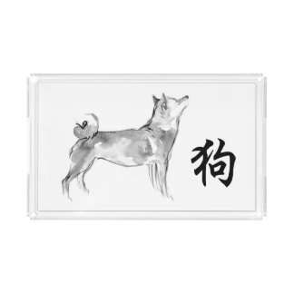 Bandeja Acrílica Zodiaco chino del símbolo del Año Nuevo de 2018