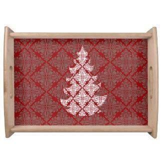 Bandeja Árbol de navidad rojo clásico corporativo del