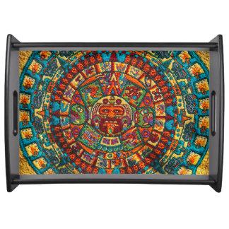 Bandeja Calendario maya colorido