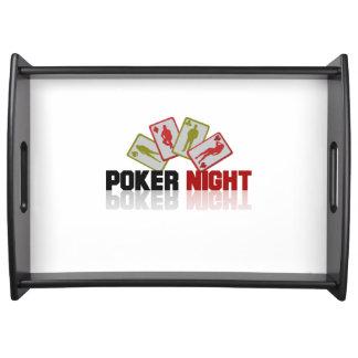 Bandeja Casino del póker