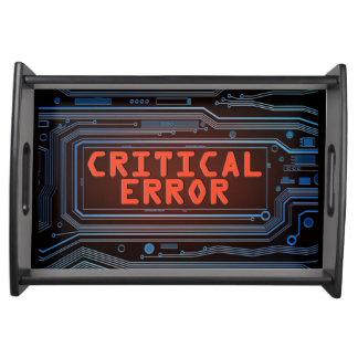 Bandeja Concepto del error crítico