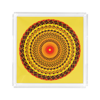 Bandeja de acrílico con Mandala gráfico