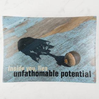 """BANDEJA de cristal """"potencial"""" insondable de la"""