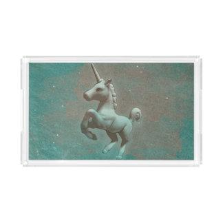 Bandeja de la vanidad del unicornio (acero del