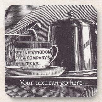 Bandeja de té del vintage posavasos de bebidas