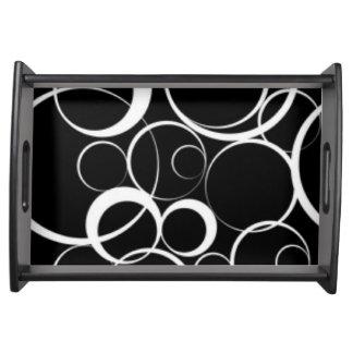Bandeja Diseño blanco negro de la impresión del modelo de
