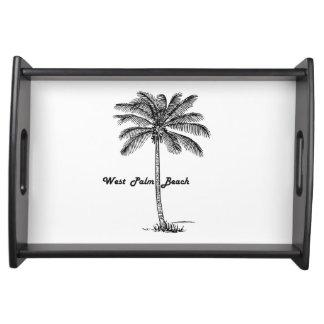Bandeja Diseño blanco y negro de West Palm Beach y de la