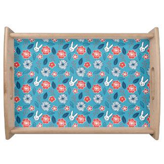Bandeja Estampado de flores de Kawaii Usagi