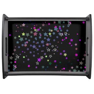 Bandeja Estrellas mágicas, Stardust, negro de la