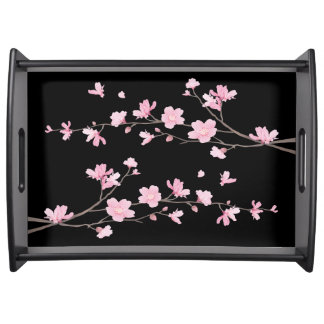 Bandeja Flor de cerezo - negro