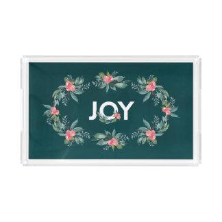 Bandeja floral del día de fiesta de la alegría