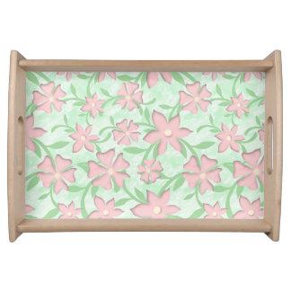 Bandeja Flores rosadas de la primavera de la floración de