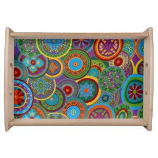 Bandeja Fondo maya del modelo del círculo