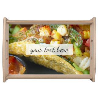 Bandeja fotografía mexicana deliciosa del Tacos