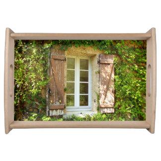 Bandeja francesa de la porción de la ventana del