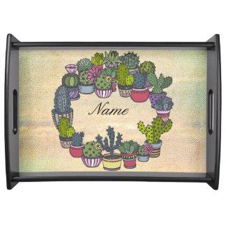Bandeja Guirnalda personalizada del cactus