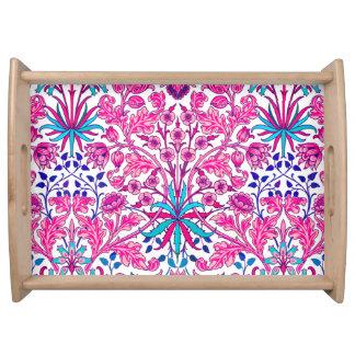 Bandeja Impresión del jacinto de William Morris, rosa del