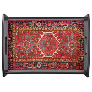 Bandeja Impresión turca o persa oriental antigua de la