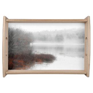 Bandeja Lago de niebla en un día de invierno