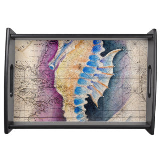 Bandeja Mapa viejo del Seahorse