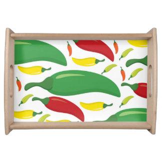 Bandeja Modelo de la pimienta de chiles