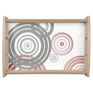 Bandeja modelo geométrico gris de los círculos del falso