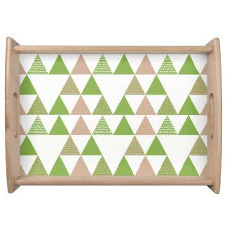 Bandeja Mosaico geométrico del árbol de la col rizada del