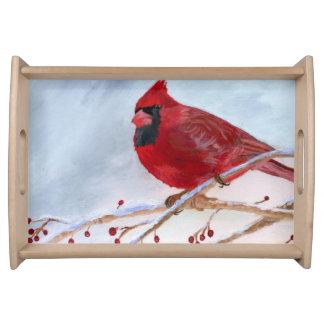 Bandeja Navidad cardinal