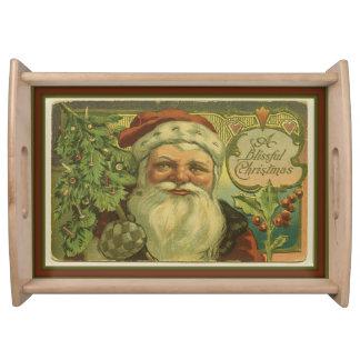 Bandeja Navidad dichoso Santa