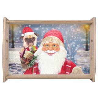 Bandeja Perro del barro amasado de los regalos del navidad