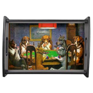 Bandeja Perros que juegan el póker