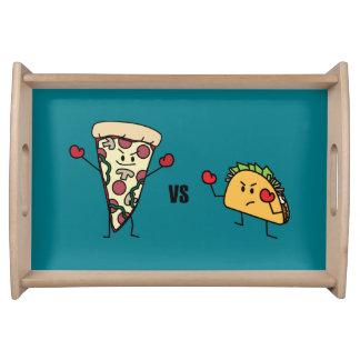 Bandeja Pizza de salchichones CONTRA el Taco: Mexicano
