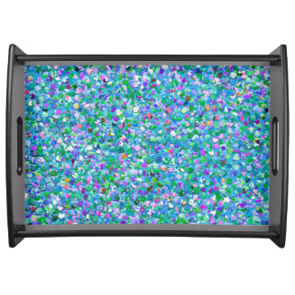 Bandeja Purpurina moderno #2 de la arena del mosaico
