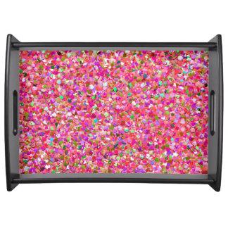 Bandeja Purpurina moderno #4 de la arena del mosaico