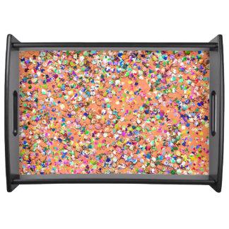 Bandeja Purpurina moderno #5 de la arena del mosaico